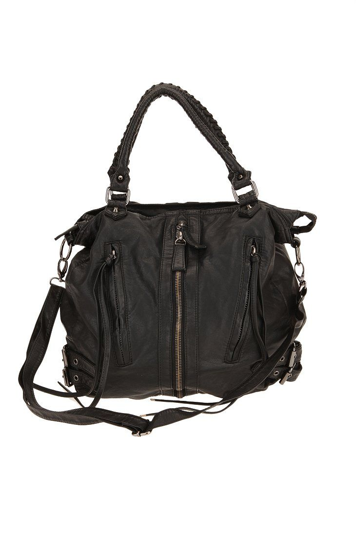 Deena & Ozzy Zip-Front Moto Hobo Bag  @Ashley Urban Outfiter