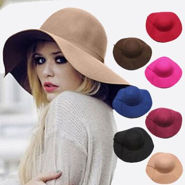 England Style Solid Spring Summer Hats for Women Fashion Outdoor Large Beach Sun Hat Candy Color 2015 Newest Casual Woman's Caps