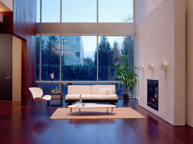 Minimalist: Design Inspiration, Big Window, Minimal Spaces, Modern Living Rooms, Interiorismo Minimalista, Gardens Design Ideas, Window Shades, Living Rooms Window, Beautiful Places