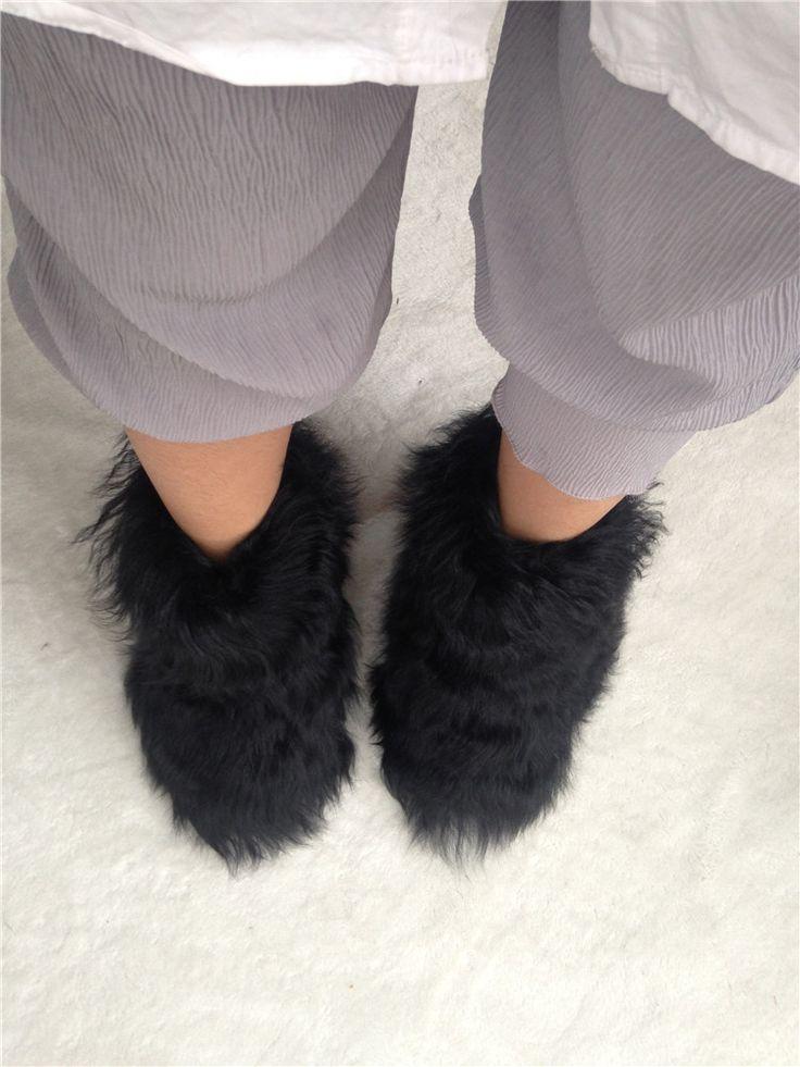 Эксклюзивный оригинальный Ручной женщина снег botas Золотой овец прямые волосы сапоги увеличился меховые ботинки Эскимо суперзвезда обувь купить на AliExpress