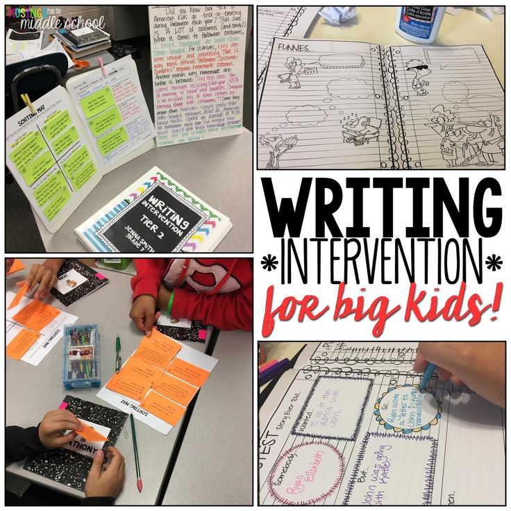 Musings from the Middle School: Writing Intervention for Big Kids