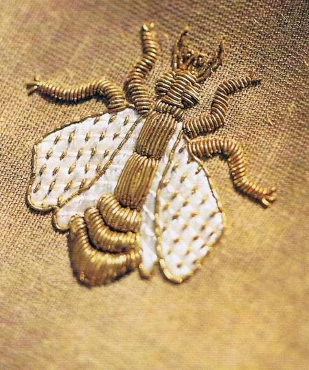 embroidered bee