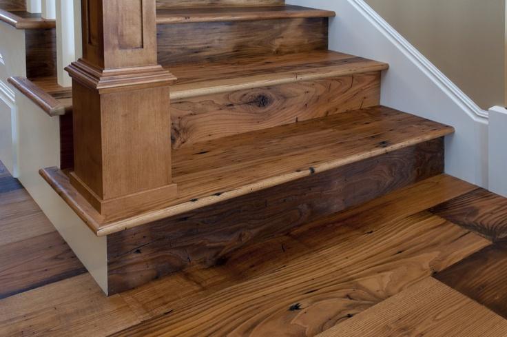 Antique American Wormy Chestnut Floor and Stair Parts : alternative flooring