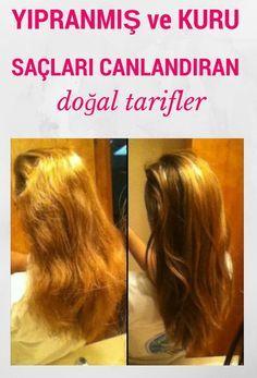 Saçlarınız yıpranmış veya kuruysa canlandıracak 10 doğal tarif bu sayfada!
