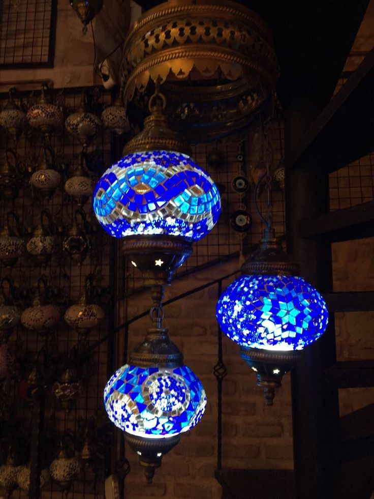 MOSAIC CHANDELIER, 3 LAMPS