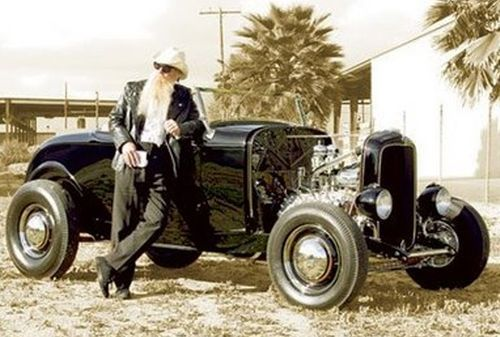 Billy Gibbons and his highboy ( ZZ Top )