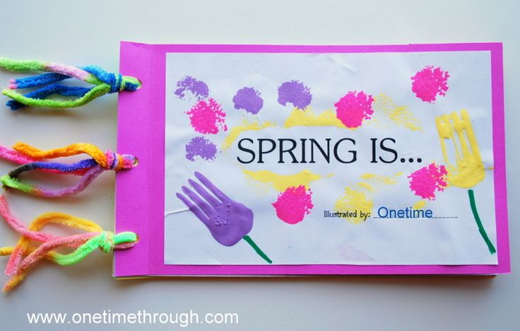 "Create a ""SPRING IS..."" Book - the kids would love getting to take their own pics for this!"