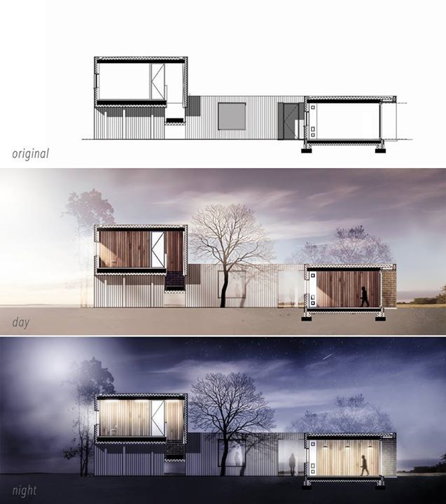 I really like the quality of this photoshop render it is for Architecture elevation