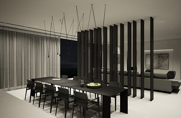 PULVA, minimalistic, interior design, minimal, modern, materials, home, homestyle, house, dom, light, details, texture, white, pure, black, kitchen, buthaup, porro