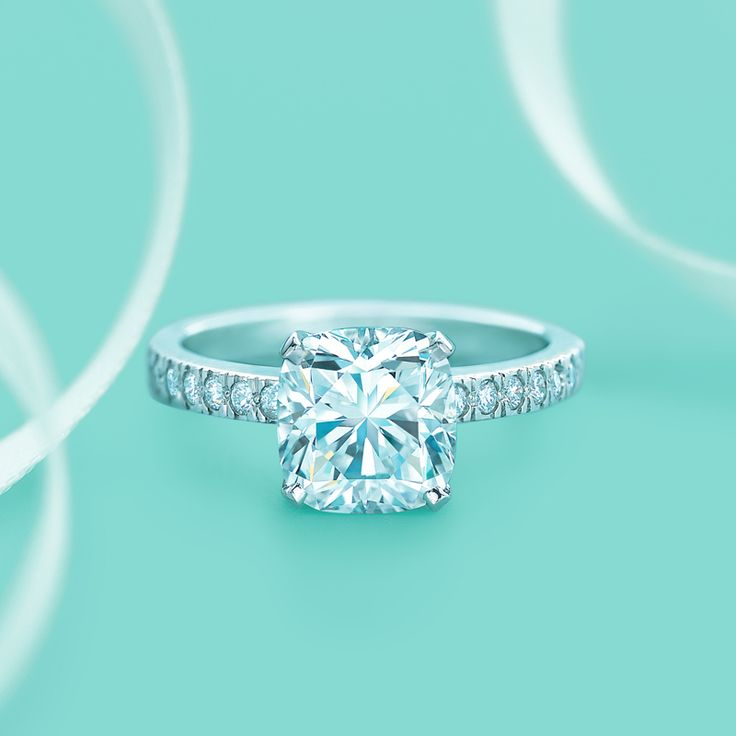 Elegant Tiffany Novo diamond engagement ring TiffanyPinterest