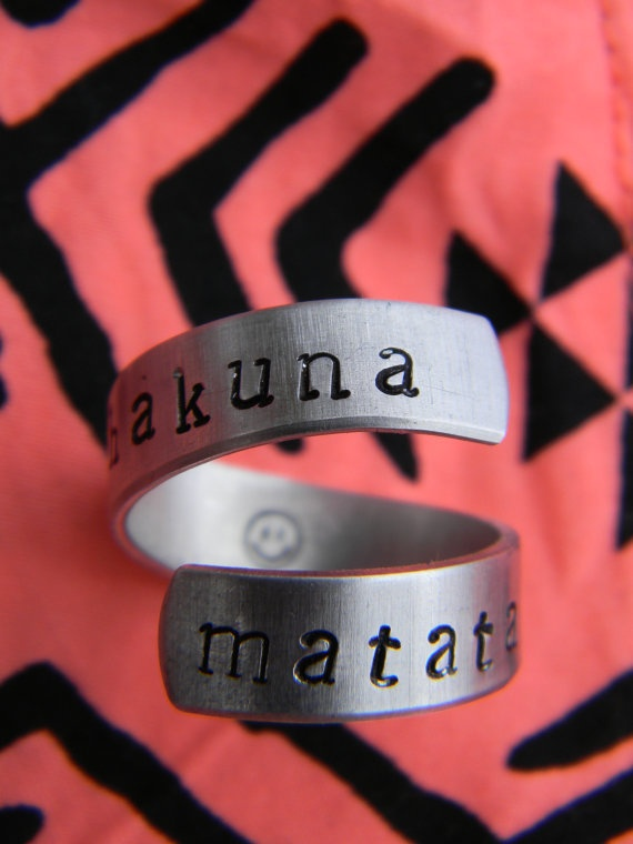 Hakuna Matata spiral ringFashion, Spirals Rings, No Worries, Not Namatata, Style, Lion King, Jewelry, Matata Rings, Accessories