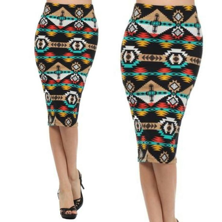 Tribal Print Skirt 38