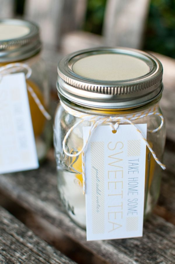sweet tea wedding favors