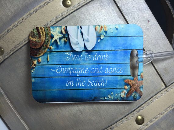 Custom luggage tags Newlywed gift Honeymood by EverlongEvents