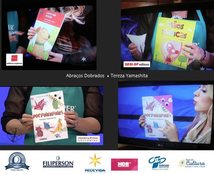 Parte 2 - Vídeos com aulas de origami. Quarta aula: Cachorrinho Apaixonado http://redevida.com.br/programa/hora-de-brincar/programa-exibido-em-03112016-bloco-1.html Quinta aula: Tsuru que bate-asa http://redevida.com.br/programa/hora-de-brincar/programa-exibido-em-04112016-bloco-1.html