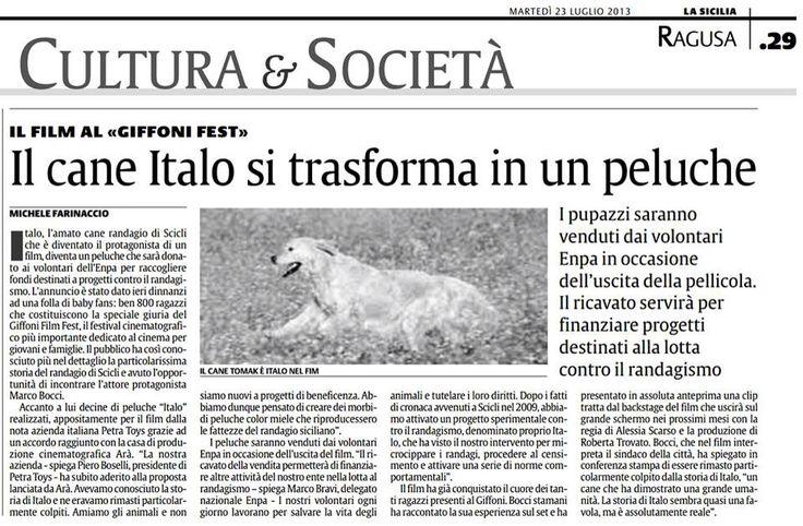 Italo diventa una mascotte solidale