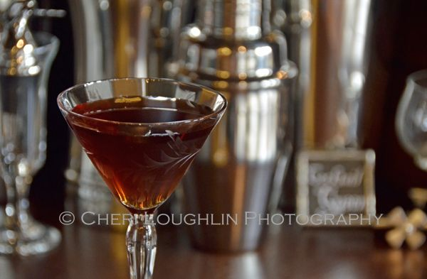 Little Black Dress cocktail contains gin, Heering Cherry Liqueur, coffee liqueur, Galliano and chocolate bitters. – recipe by Mixologist Che...