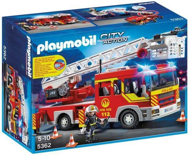 City Action - Camion pompier échelle pivotante et sirène
