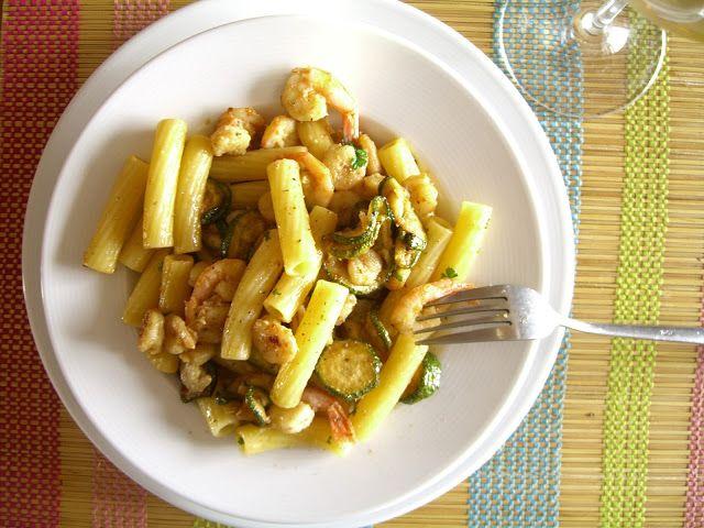 İtalyan Mutfağından Karidesli Kabaklı Makarna tarifi