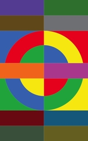 London Underground Roundel. Sir Peter Thomas Blake, KBE, RDI, RA is an English pop artist, best known co-creating the sleeve design for the Beatles' album Sgt. Pepper's Lonely Hearts Club Band. He lives in Chiswick, London.