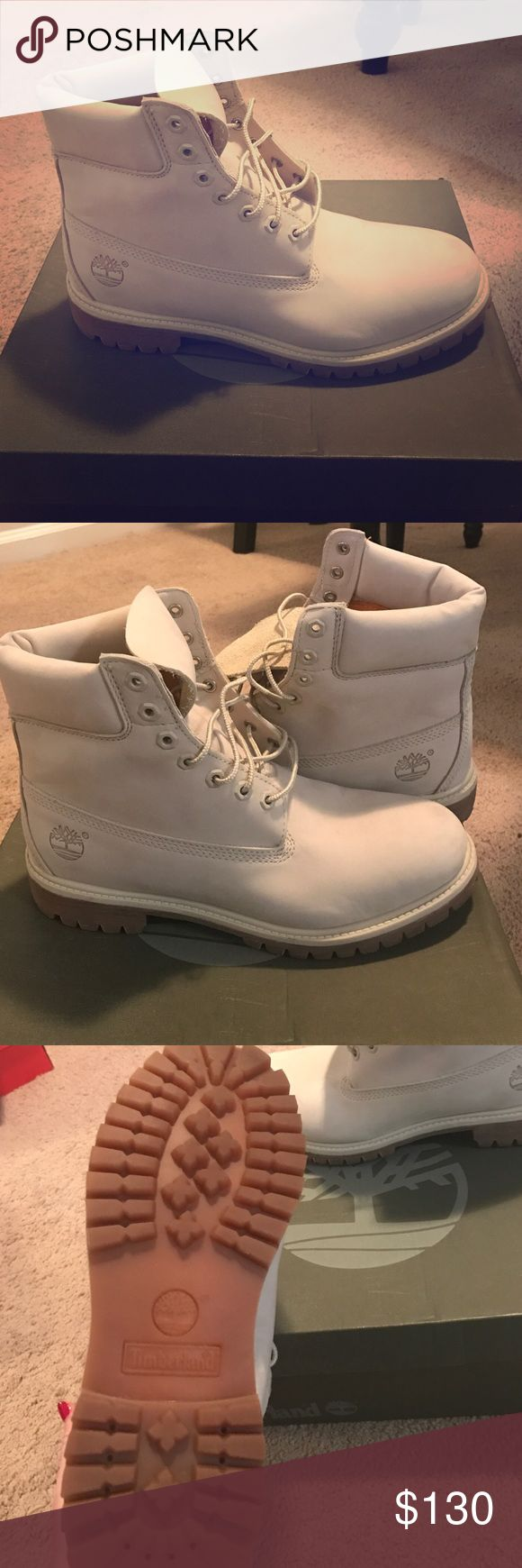 Men's timberland boots Men's suede off white timberland boots Timberland Shoes Boots