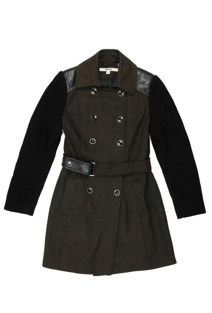 womens Coat DKNY wool used size 8 US