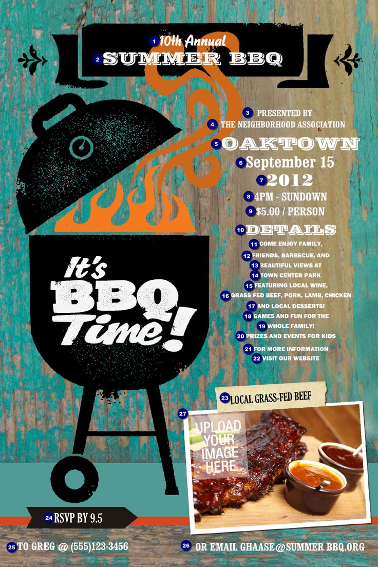 12 best images about bbq poster on pinterest gourmet for Bbq ticket template free