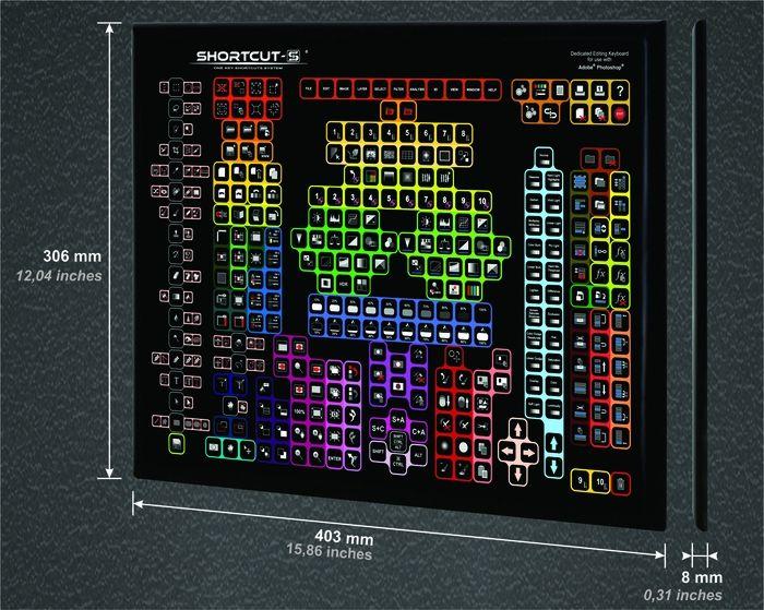 Shortcut-S Keyboard: клавиатура с 319 кнопками для редактора Photoshop / Новости hardware