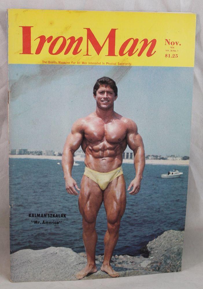 IRONMAN Body Building Muscle magazine KALMAN SZKALAK/DAVE JOHNS 11/76  Vol 36 #1