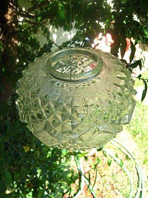 Glass Shade Garden LanternDiy Gardens, Gardens Ideas, Gardens Lanterns, Crafts Ideas, Glasses Shades, Diy Art, Art Upcycling, Gardens Art, Shades Gardens