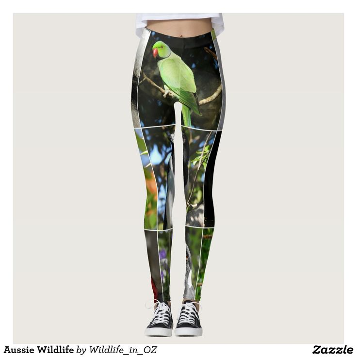 Aussie Wildlife Leggings. Click on photo to view item then click on item to see how to purchase that item. #leggings #activewear #rosella #easternrosella #koala #koalabear #wildlife #australianwildlife #zazzle #lorikeet #rainbowlorikeet #indianringneck #cockatoo #sulphurcrestedcockatoo #kingparrot #kookaburra