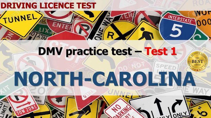 Driving licence test - 2016 North Carolina DMV practice test 1