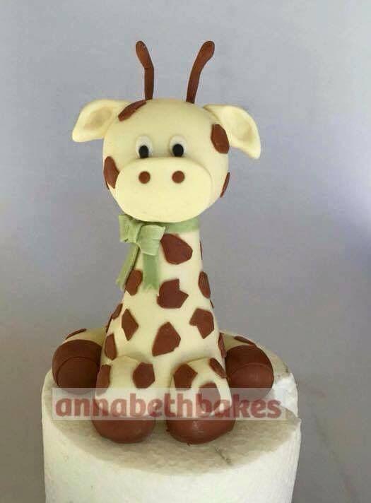 Giraffe cake topper - annabethbakes