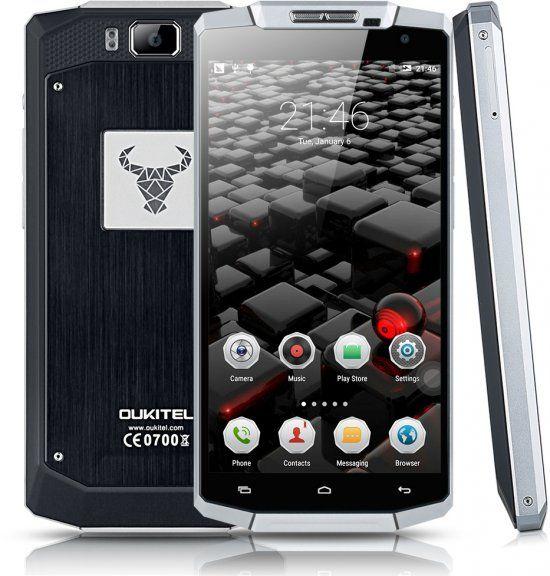 Oukitel K10000 Android-älypuhelin Dual-SIM, hopea – Android – Puhelimet – Puhelimet – Verkkokauppa.com