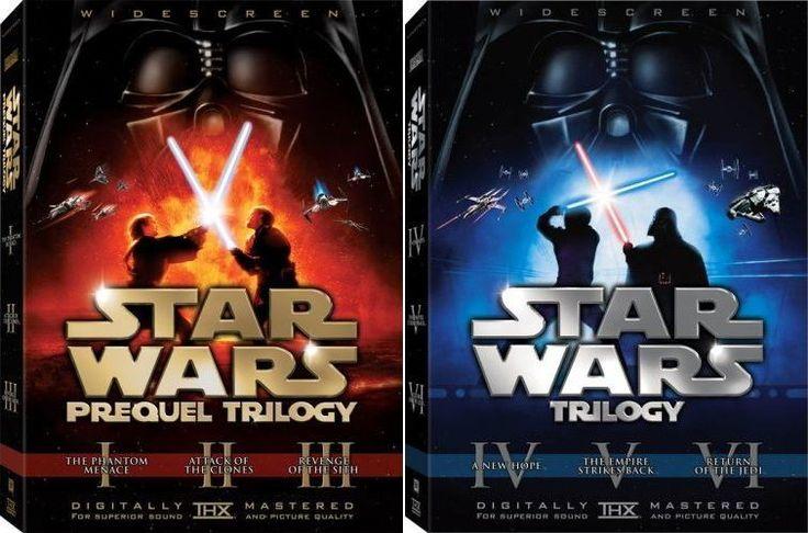 Star Wars Episodes 1-6 Complete DVD Box Set - 12 Discs Original Prequel 1-3 4-6
