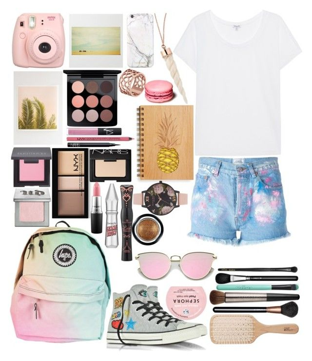 """My little rainbow/set☔💧+🌞=🌈"" by emmely201 on Polyvore featuring Forte Couture, Splendid, Fujifilm, Wilder California, russell+hazel, Tartesia, Converse, MAC Cosmetics, Laura Mercier and Urban Decay"