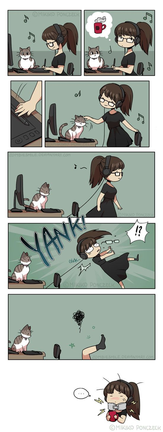 Happens all too often. Especially with distractions from kitty. #notmyart https://plus.google.com/+warazashi/posts/EHoPzjR3oZH