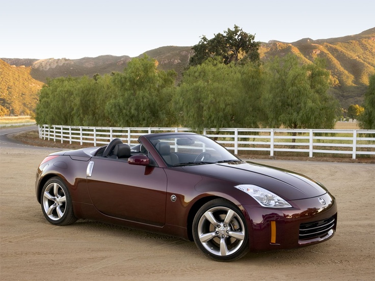 This is my car.  Not my 'actual car', but the car I drive.  Nissan 350Z Convertible with manual transmission.  I love tooling around LA with the top down