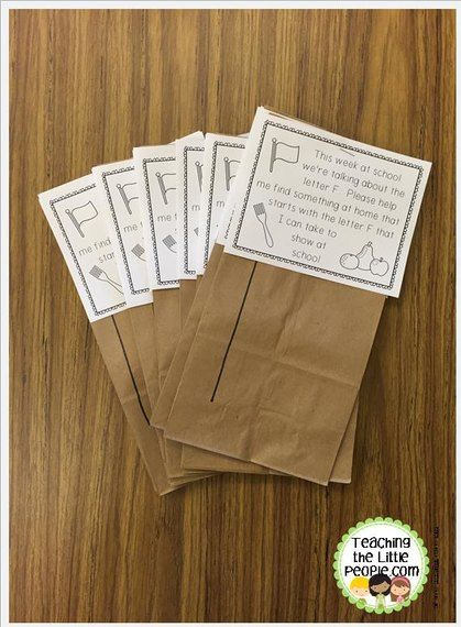 Letter Of The Week Show And Tell Bags By Www
