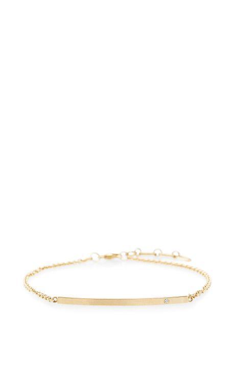 zsazsasitlist:  designer: zoe chicco details here:Preorder Zoe Chicco 14K Diamond Curved Bar Bracelet