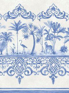 "Cole & Son Wallpaper: ""Rou Border"" in Cobalt Blue ..."