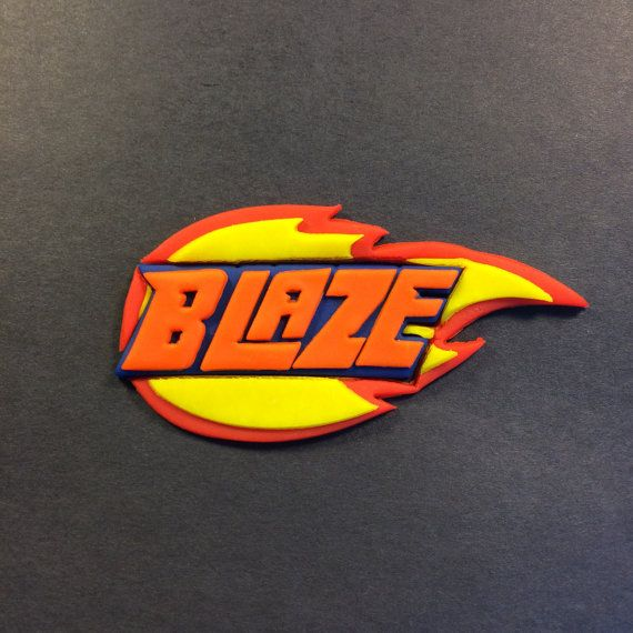Blaze and The Monster Machines Logo Cookie by LAURISCOOKIECUTTERS