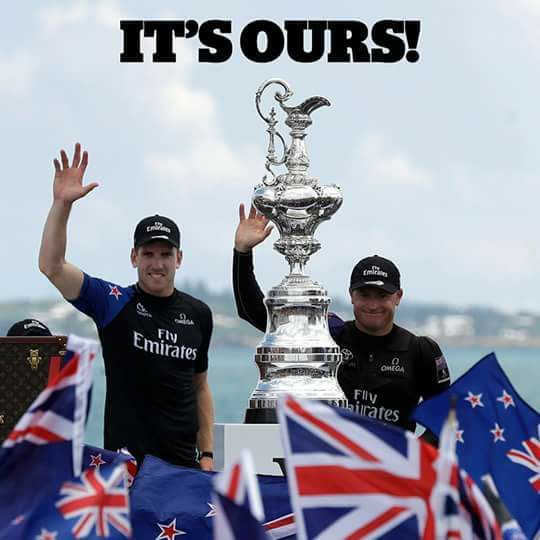 Emirates Team New Zealand winners of the America's Cup 2017.