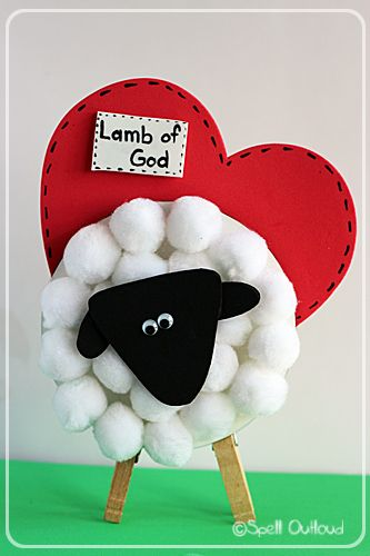 Lamb of God craft for Easter