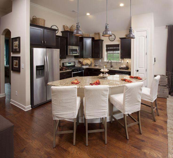 Dark Kitchen Floors Light Cabinets: Regency Homebuilders : Open Concept Living And Kitchen