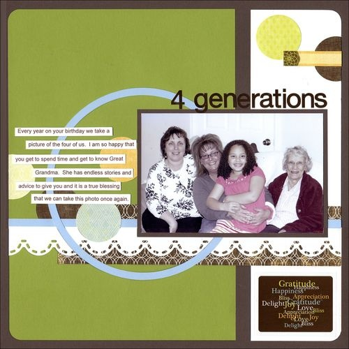 Gratitude Photo Album Accents Scrapbooking Layout Idea by Creative Memories