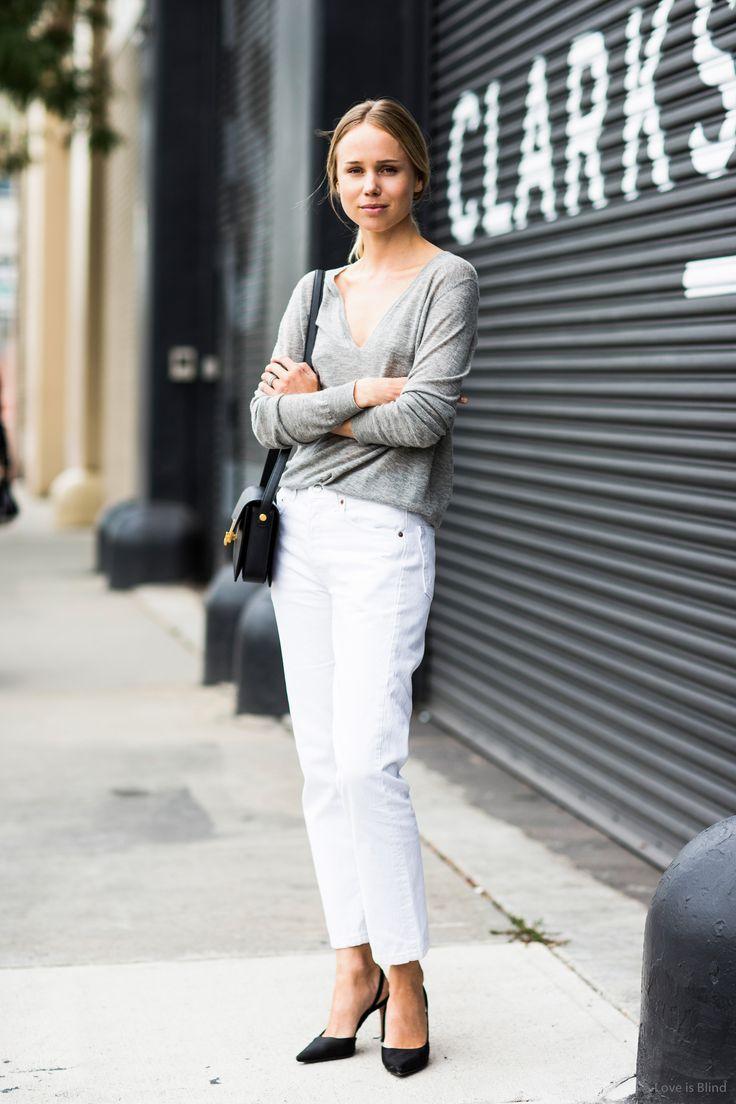 17 Best Ideas About Elin Kling 2017 On Pinterest White Wide Leg Trousers Monochrome Fashion