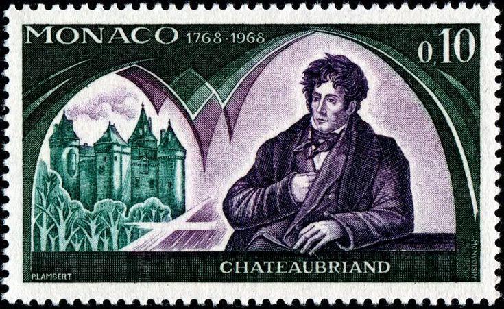 Resultado de imagem para selo de FRANÇOIS-RENÉ CHATEAUBRIAND