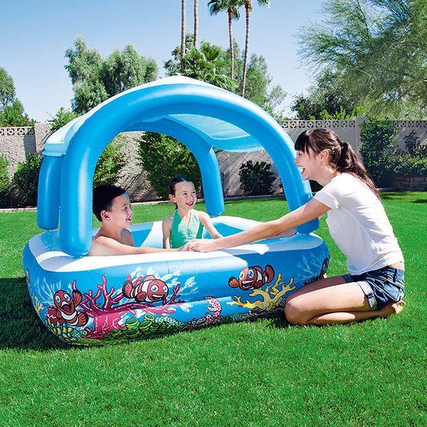 H2OGO Family Pool with Sun Shade for Fun   Target Australia