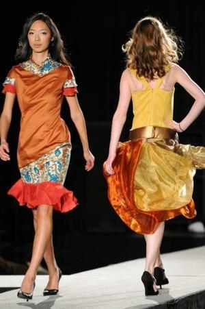 Harvard student fashion show.